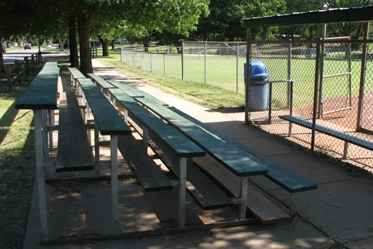 English Park ballfield seating