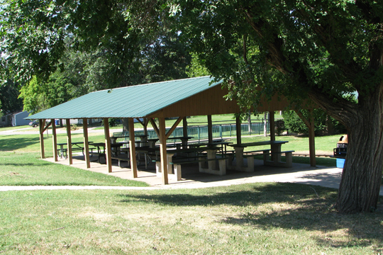 English Park large shelter