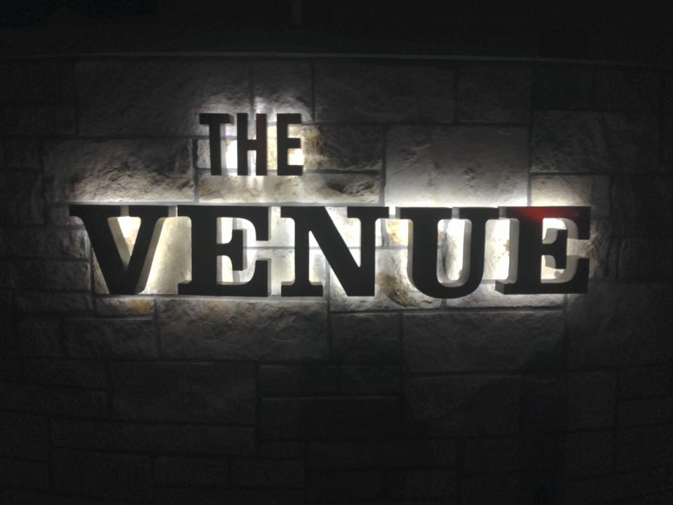 The Venue sign