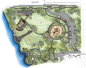 Warren Riverview Park site plan